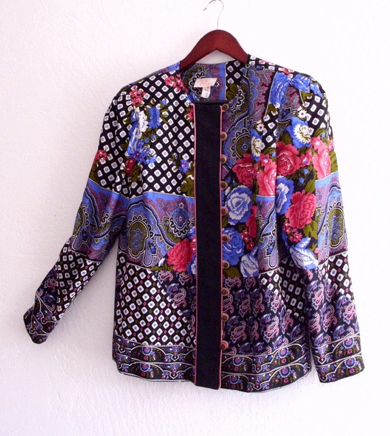 Bohemian Jacket printed  Patchwork  Shirt Jacket