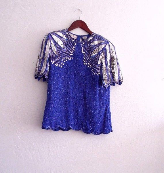 Sale vintage beaded Sequin Top