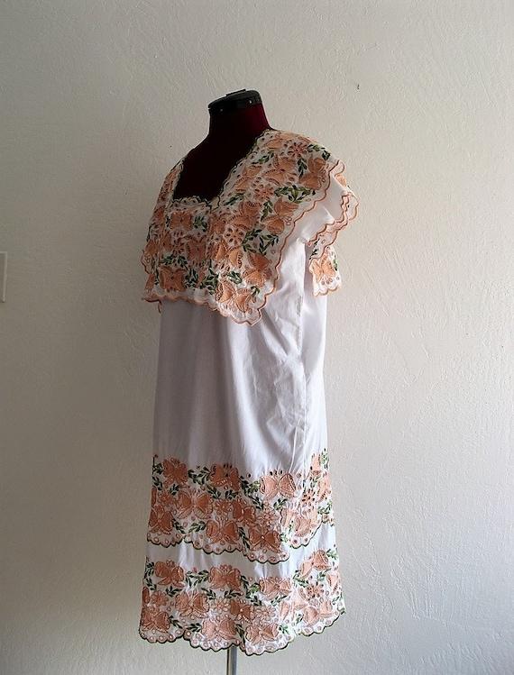 Tribal Embroidered Wedding dress. Folk dress. Mexi