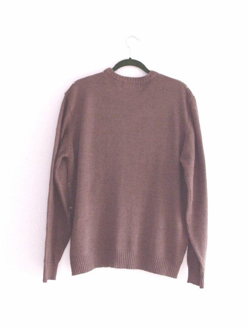 Sale Vintage  Crew Neck Brown Sweater Large