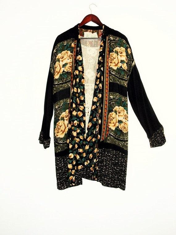 Plus Size #KheGreen #Eco Fashion Holiday Sale Gypsy Patchwork Tunic dress