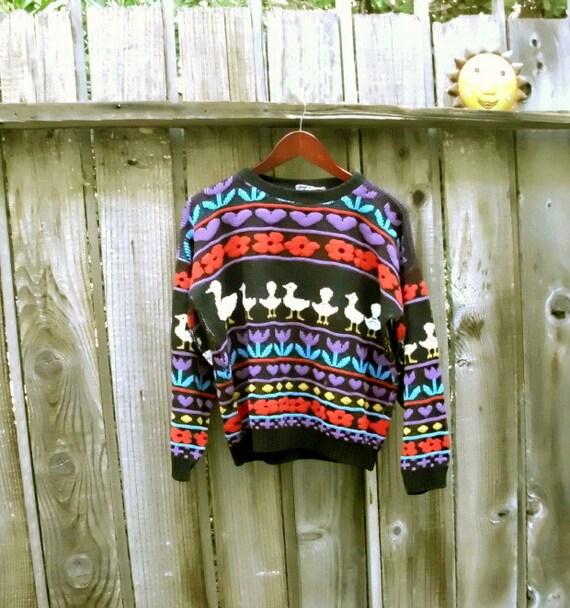 Unisex Vintage Sweater Boho Hippie Ugly Sweater