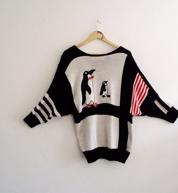 Unisex Art to Wear  Penguin Sweater