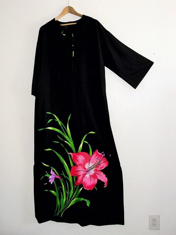Hippie Maxi Tent Dress/ boho vintage dress