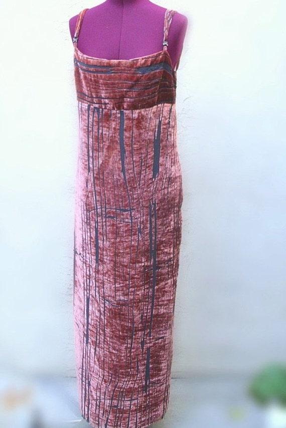 Vintage Crushed Velvet Cocktail Dress