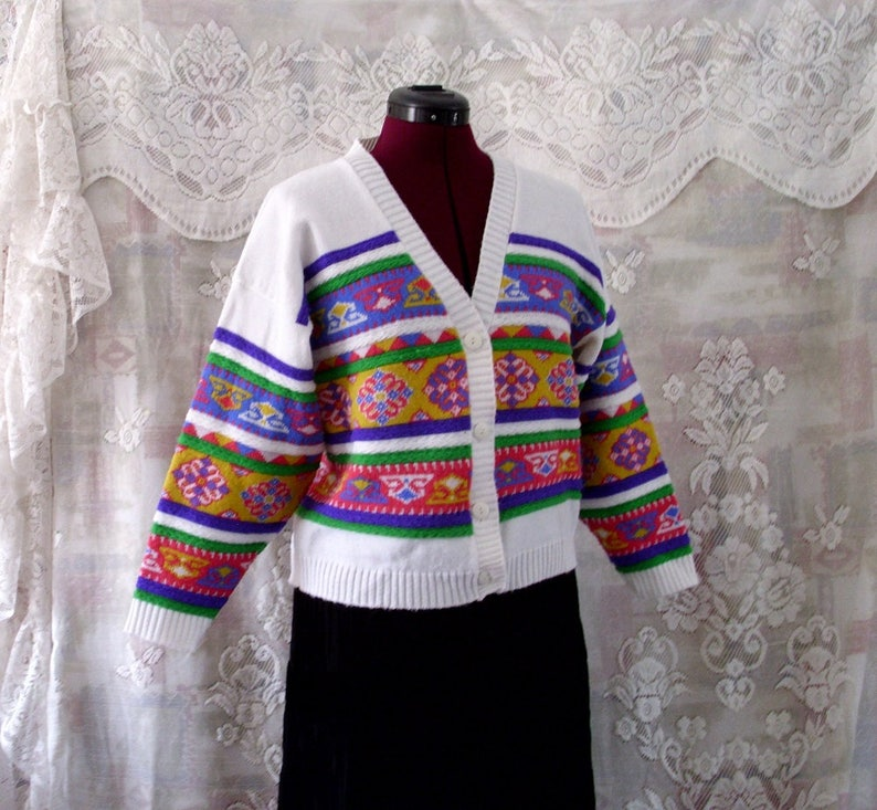 VTG  knitted cropped cardigan