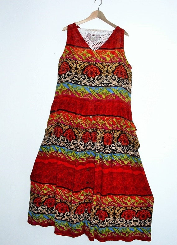 c4a26d3322b3 Moving Sale Tribal print Cotton Maxi Dress  Medium   Large