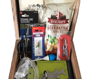 mens gift box fishing shore lunch gift for dad gift for son husband man cave gift christmas jewelry box stash box