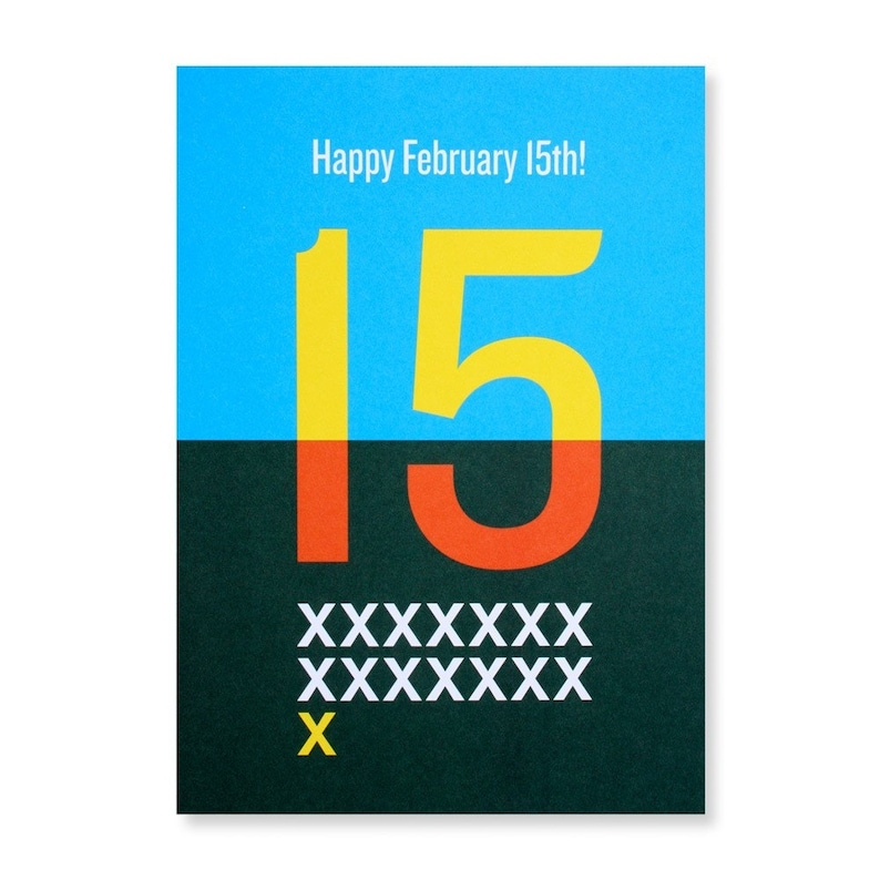 Happy February 15th Greeting Card image 0