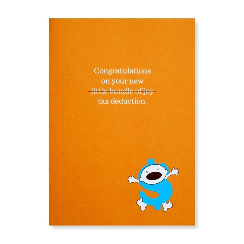 Congratulations on Your New Tax Deduction Greeting Card image 0