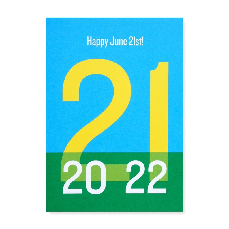 Happy June 21st/Summer Solstice Greeting Card image 0