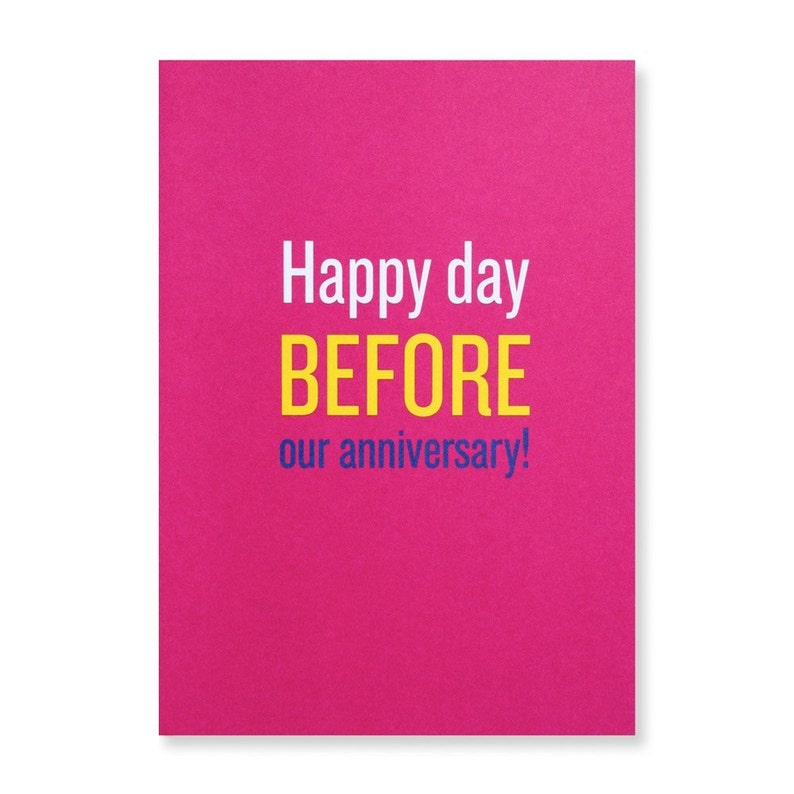 Happy Day Before Our Anniversary Greeting Card image 0