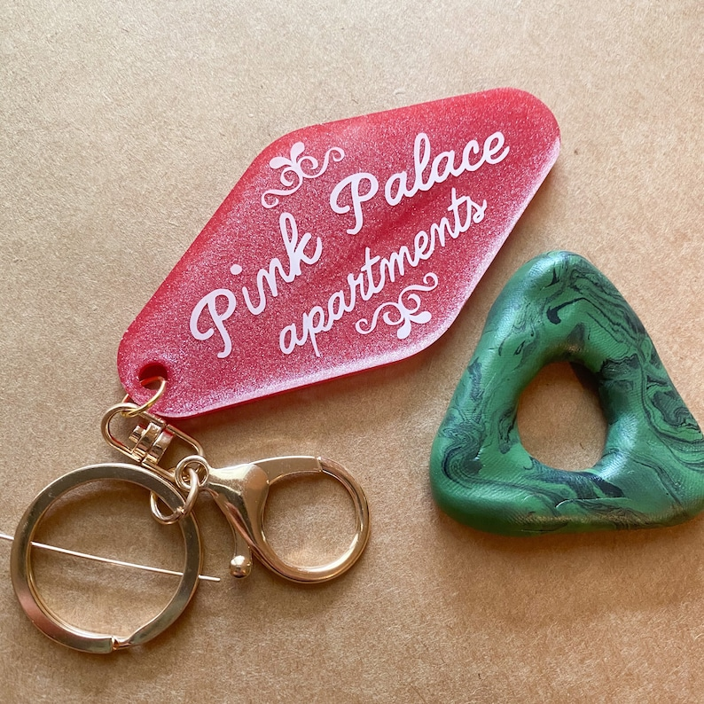 Coraline Pink Palace Apartments Handmade Resin Keychain Etsy