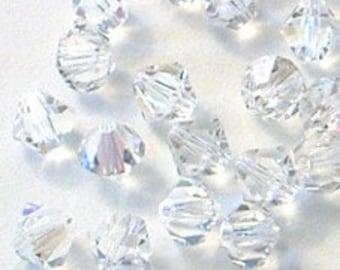 12pc - 5mm Swarovski Crystal Moonlight BiCone Spacer Beads Style 5301 aka 5328