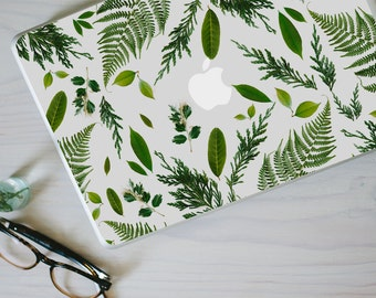 Leaf Macbook Decal - Genuine Leaf, Fern and Foliage MacBook Laptop Skin