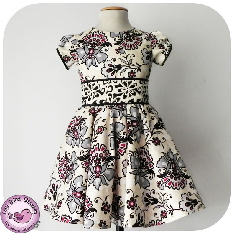 512b8835c4c Lily Bird Studio PDF Sewing Pattern Amanda s Dress 1
