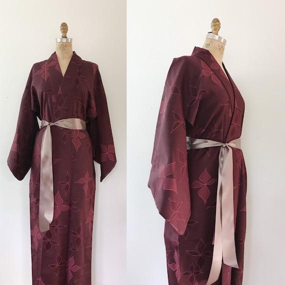 vintage kimono / plum kimono / kimono robe