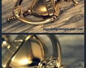 Custom Engraved quot Cambridge quot Style Solid - BRIGHT BRASS Door Knocker