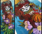 Nixie the Immortal Mermaid glicee print painting