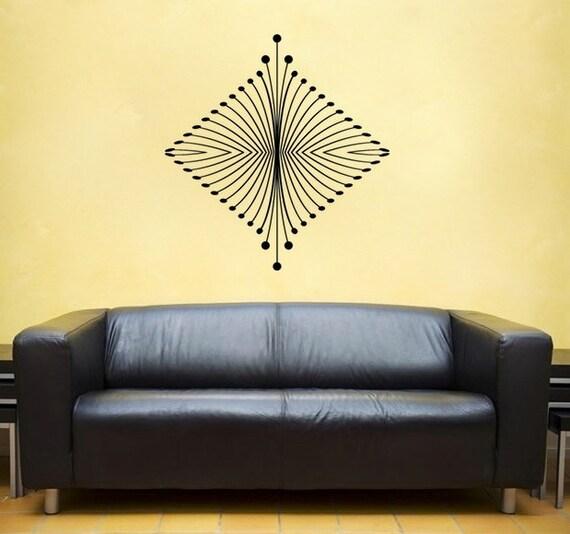 Art Deco Wall DECAL BED interior design tattoo sticker   Etsy