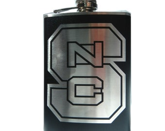 Your favorite sports team- CUSTOM, Personalized Hip Flask- alcohol, whiskey - 6, 8 ounce oz