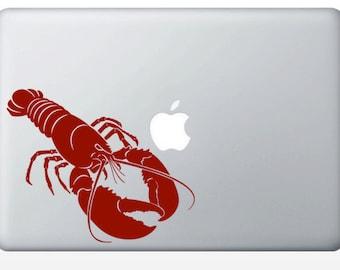 Lobster laptop DECAL- macbook iPad computer - ocean water crustacean animal