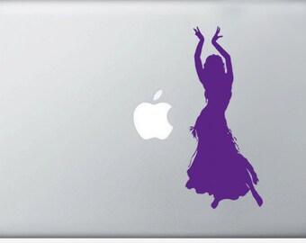 Belly Dancer laptop DECAL- macbook iPad computer- vinyl sticker