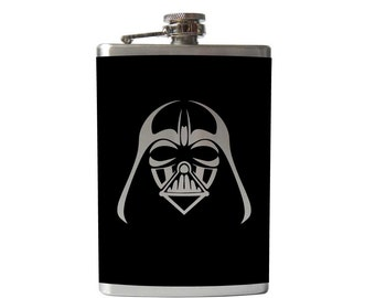 Darth Vader Flask- alcohol, liquor, booze, Star Wars, hip- whiskey,  Pick your COLOR!