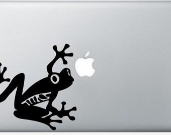 Tree Frog DECAL- macbook iPad computer- vinyl sticker