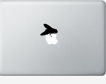 2 Flies laptop DECAL- macbook iPad computer- Gadget Art / Accessory - fly vinyl sticker