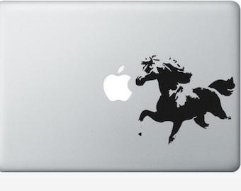 Horse laptop DECAL- macbook iPad computer- vinyl sticker