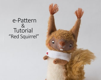 Red Squirrel Tutorial with Pattern PDF - Instant Download