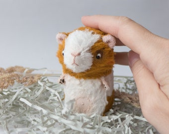 Pet Portrait of Guinea Pig - Soft Figurine - Custom Toy Personalised Pet Gift