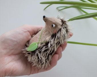 Mini Hedgehog - Miniature Soft Figurine - 8cm
