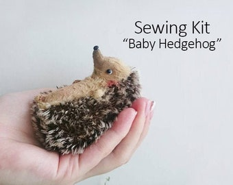 Sewing Kit - Baby Hedgehog 9cm with Tutorial and Pattern