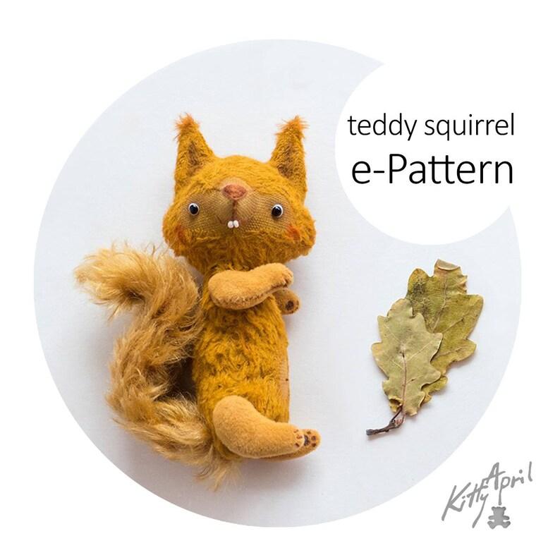 Teddy Squirrel 13cm e-Pattern