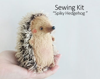Sewing Kit Hedgehog 11cm with Tutorial and Pattern - longer spikes