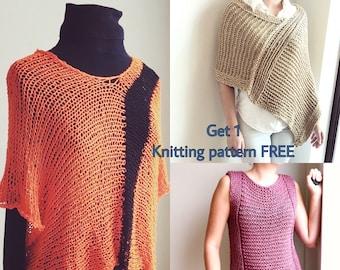 Free Knitting Pattern / Knitting Pattern for women / Knitting Tutorial / Knitting Pattern top / Knitting wrap Pattern / Knitting sweater