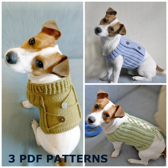 Free Knitting Patterns Free Crochet Patterns Dog Sweater Etsy