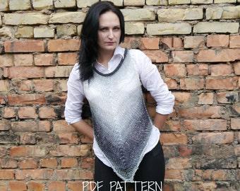 KNITTING PATTERN / Knitting Vest Pattern / Knitting Pattern for Vest / Knitting Sweater Pattern / Knitting Top Pattern / memorial day sale