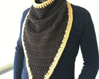 Crochet Scarf / Mens Scarf / Crochet Cowl Scarf / Men Cowl Scarf / Infinity Scarf / Knit Scarf / Mens Scarf