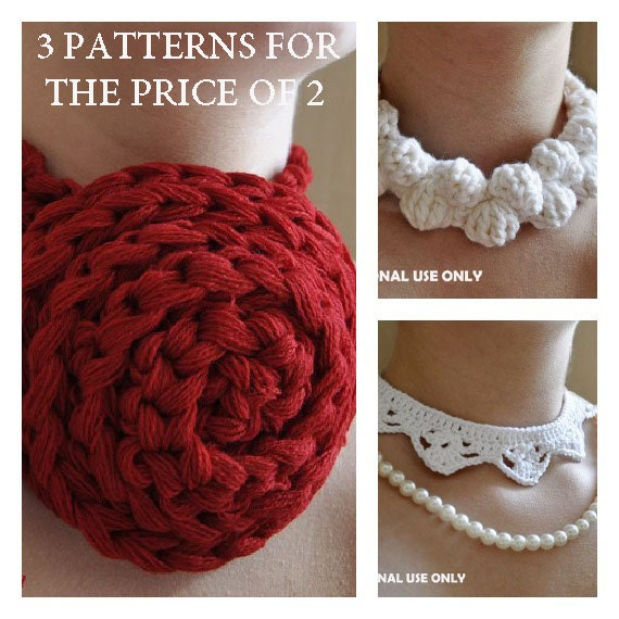 Free Crochet Pattern Crochet Necklace Patterns Buy 2 Get Etsy