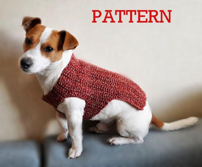 Crochet Pattern Crochet Dog Sweater Pattern Dog Clothes Etsy