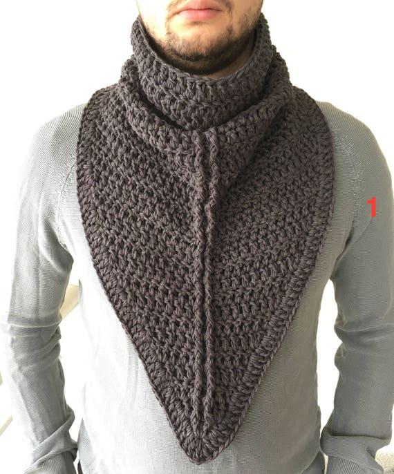 Bufanda del ganchillo / bufanda del ganchillo para hombre / | Etsy