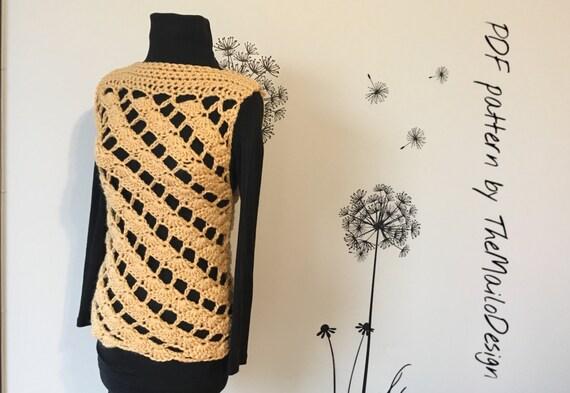 Crochet Pattern Crochet Top Pattern Crochet Vest Pattern Etsy