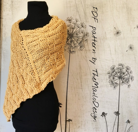 KNITTING PATTERN / Knit Shrug pattern / Easy knitting pattern ...