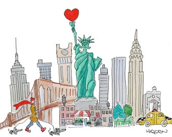 I love NYC - Statue of Liberty sharing some love!