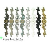 Vintage French Provincial Backplates - 8 color choices - matching knob options - ornate back plate