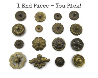 1 Vintage Drawer Pull End Piece Only - Spare Part - Rosette - Swinging Round CLEARANCE