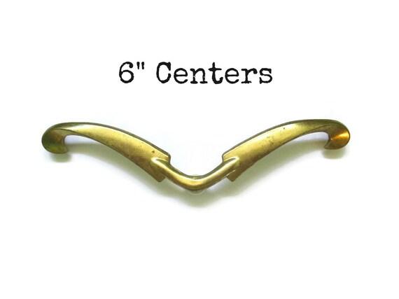 "4 Of 20 Vintage Brass 4"" Cabinet Door Drawer Handles Pulls Hardware Knobs MCM"